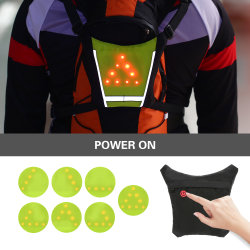 Lixada Bicycle Bag USB Rechargeable Reflective Backpack Attachment Clip Outdoor Sport Safety Bag Gear with LED Signal Light