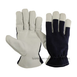 Sheep Skin Leather Hand Job Work Full Finger Driving Gloves