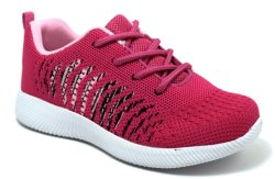 New Design Woven Fabric Flyknit Kids Sneakers Boy Sports Shoes