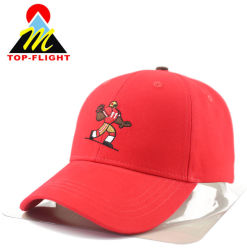 3143d966bce Wholesale Custom Embroidery Red Sports Cotton Hats and Caps Baseball Cap