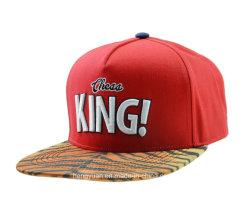 Red/Blue Snapback Cap with 3D Embroidery Flat Cap Baseball Cap Sport Cap Plain Cap Trucker Cap (HY18052508)