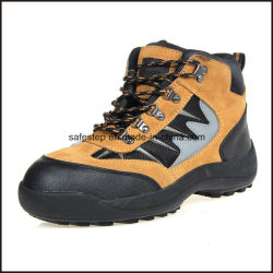 Ankle Height Genuine Leather Sport Style Safety Shoes