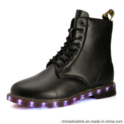 Wholesale Fashion Men Casual Rechargeable LED Lights Boots