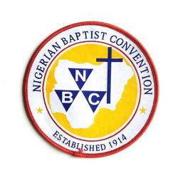 OEM Wholesale Custom Woven Badge for Bag School Uniform