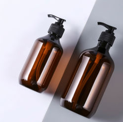 300ml 500ml Lotion Glass Cosmetic Bottle in Transparent Round Pet Shampoo Bottle in Flint for 1.0cc Lotion