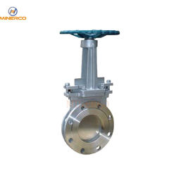 Manufacturer Direct Dn100 4 Inch Cast Steel Flanged Manual Slurry Knife Gate Valve Price List with Handwheel