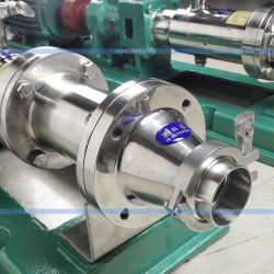 Sanitary Stainless Steel Food Grade Screw Pump Mud Slurry Pump
