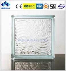 Jinghua High Quality Tangerine Skin a Clear Glass Block/Brick