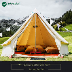 3m 4m 6m 5m Cotton Canvas Bell Tent Waterproof Family Outdoor Camping Tent