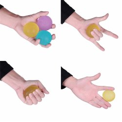 Wholesale Set of 3 Hand Strengthening Wrist and Grip Exerciser Fitness Theraphy Balls Eggs