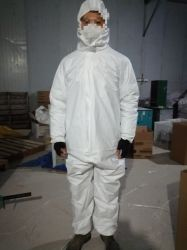 Security &Protection Supply Disposable Radiation Protective Clothing Factory Type 5/6 Cat 3 SMS Microporous Disposable Protective Clothing for Asbestos Removal