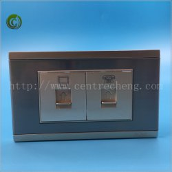 PC & Tel Socket Golden Socket Steel Socket Wall Socket Electrical Socket PC Socket Tel Socket