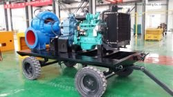 2000m3/H Movable Diese Engine Mixed-Flow Water Pump with Four Wheels for Flood and Draught Fighting