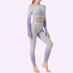 2PCS Set Women's Yoga Suit Fitness Clothing Sportswear for Female Workout Sports Clothes Athletic Running Yoga Suit