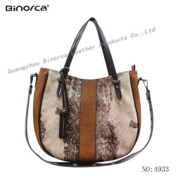 Professional ODM/OEM New Fashion Fabric and PU Contrast Lady Handbags with Good Quality Competitive Price