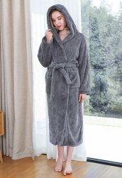 Manufacturer Comfortable Hotel SPA Home Cloth Velour Fleece Terry Bathrobe