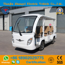Zhongyi Wholesale 8 Passengers off Road Battery Powered Classic Shuttle Sightseeing Electric Mini Car for Resort