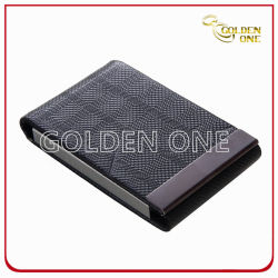 Superior Genuine Leather with Metal Business Card Case