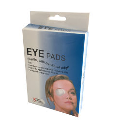 Medical Absorbent Cotton Sterile Gauze Eye Pad Patch with Adhesive