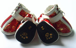 Pet Supply Leather Waterproof Dog Shoes, Warm Pet Boots