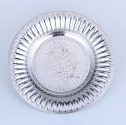 Hot Sell Stainless Steel Soup Plate with Flowers