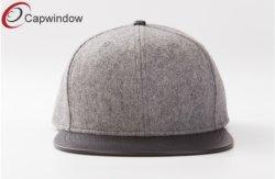 Blank Melton Wool & Leather Sport Leisure Baseball/Snapback Hat