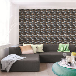 Low price 3D home decoration, modern, geometric, wallcovering vinyl/wall paper/wallpaper