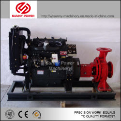 Water Supply Equipment by Centrifugal Pump Driven Via Diesel Engine