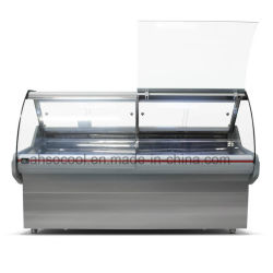 6FT Long Supermarket Serve Over Counter, Meat and Deli Showcase Cooler