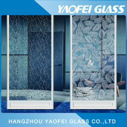Decorative Glass/ Clear Acid Etched Glass 7
