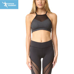 Wholesale Fitness Clothing Womens Sports Bra with Mesh