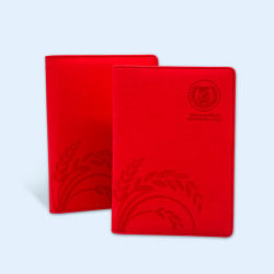 Office Wire-O PU Leather Hardcover Writing Diary Notebook Stationery Printing Service