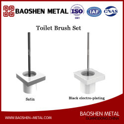 The Bathroom Accessories Toilet Brush Set Commodity Shelf in Stainless Steel