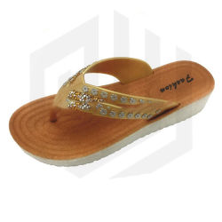 6b73b1394d5 Glitter Diamonds Brush Insole Ladies Wedge Pcu Slippers