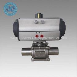 Pneumatic Actuator Three Way Sanitary Ball Valve