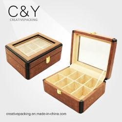 2017 Elegant New Design Wholesale PU Leather Watch Display Case