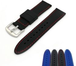 0bc6203ab98 18mm 20mm 22mm 24mm Soft Military Sport Bracelet High Quality Waterproof  Watch Band