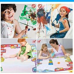 Aqua Magic Doodle Mat Large Educational Water Drawing Mat for Kids Toy Toddler Painting Board for Boys Girls Size 30.3'' X 30.3''