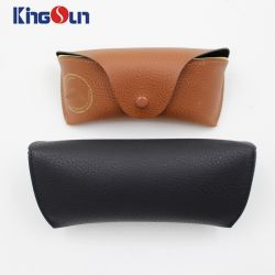 Classical Sunglasses Case for Women and Men Brand Hard Glasses Case PU Leather Glasses Box with Cloth Spectacle Case