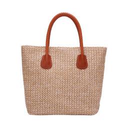 Wholesale Straw Handbag Simple Beach Bag Single Shoulder Woven Bag f240aafbe5a3a