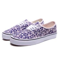 New Design Printed Blue Monkey on Navy//White Canvas Leisure Shoes