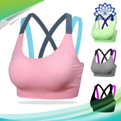 Fitness Yoga Cross Strap Push up Women Sport Bra