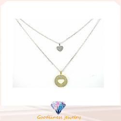 Good Sale and Wholesale Fashion Women 925 Silver Necklace Jewelry (N6539)