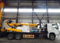 Truck Mounted Deep Rotary Hydraulic Water Well Drilling Rig Machine for Mud and DTH Borehole Drilling