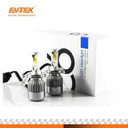 Lower Price High Quality C6 LED Headlight H4 9003 Hb2 Car LED Headlight 6000K 6000lm 40W Bulb Lamp 9003