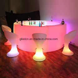 LED Illuminated Furniture Bar Table Big Modern Bar Counter Design For Night  Club
