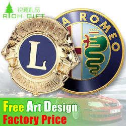 Promotional Custom 3D Printing Gold Silver Metal Enamel Flag Emblem Plastic ABS Chrome Auto Car Logo Sign Badge Lapel Pin Emblem for Motorcycle Body Decoration