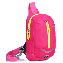Fashion Custom Pink Polyester Sports Shoulder Fanny Pack for Lady