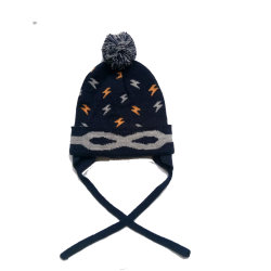 52fc3ad4 Children Winter Fashion Warm Acrylic Knitted Jacquard Cuff Hat Cap with  Earflaps