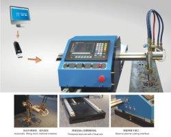 portable CNC metal plate gas flame& plasma cutting machine wth steel track